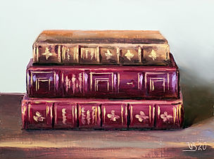 Antique Books with Gold
