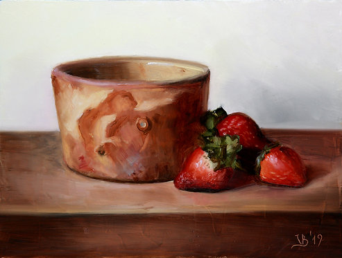 Strawberries and a Faisselle Pot