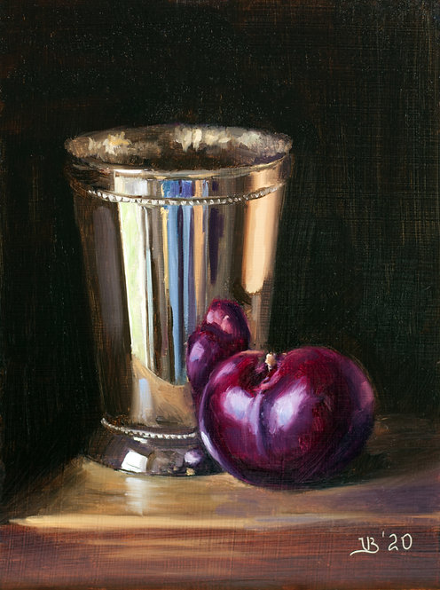 Silver and Plum