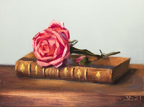 Coral Rose and a Book