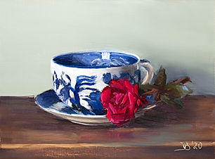 Blue Willow and Rose