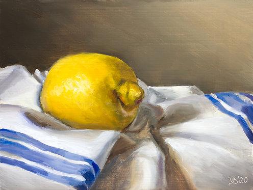Lemon on a French Towel