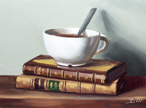 Antique Books and Coffee