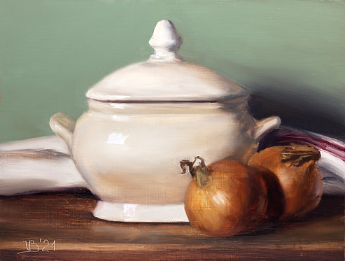 Tureen and Two Onions