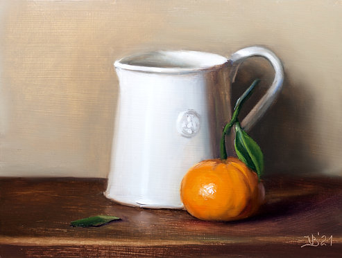 White Pitcher and Clementine