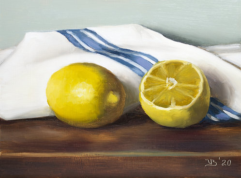Two Lemons and Blue