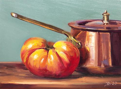 Copper and Heirloom Tomato