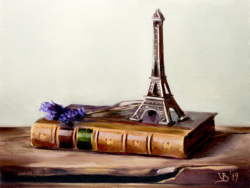 Eiffel Tower and Lavender