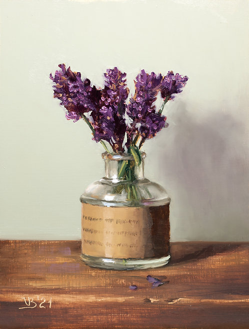 Lavender in a Glass Vase