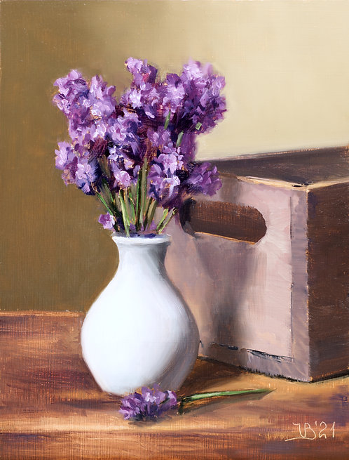 Lavender and a Crate