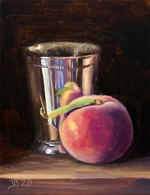 Silver and Peach
