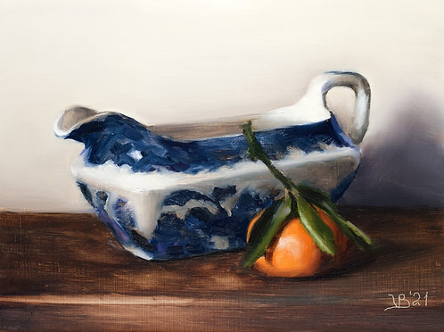 Blue Willow Boat and Clementine