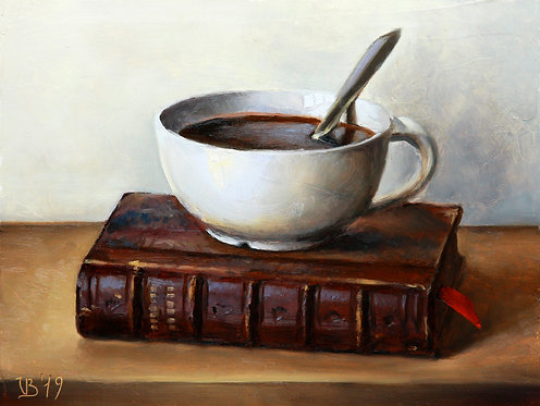 Antique Book and Coffee