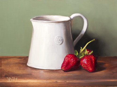 Alix Reynis Pitcher and Strawberries