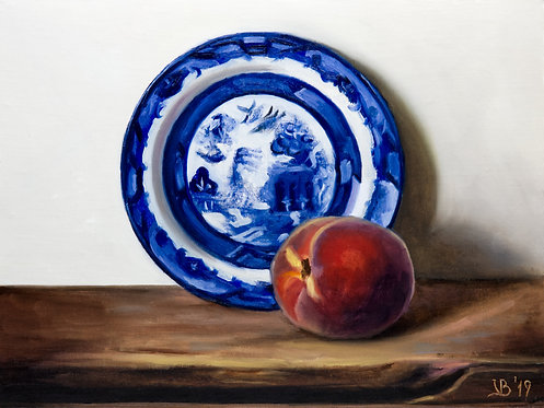 Blue Willow and Peach II