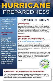 Hurricane Preparedness 2019 - City Updat