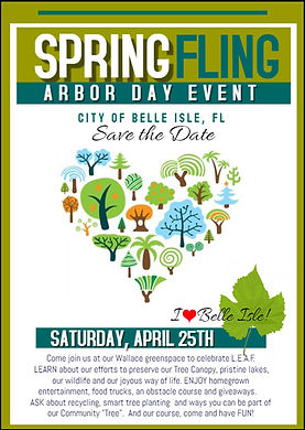 Arbor Day Spring Fling Save the Date Apr