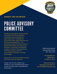 Police Advisory Committee Application Fl