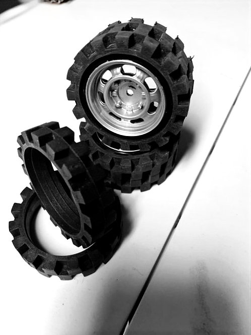 "Traxxas Slash 2WD Solid Rubber ""Fork Lift"" DemoTires"