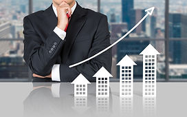 Businessman and real estate market. Meet