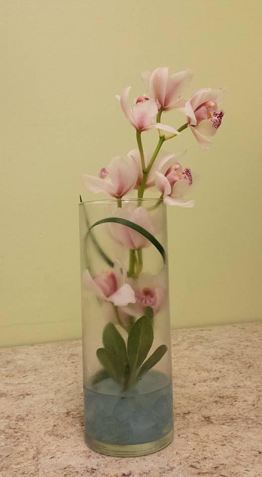 orchid simple arrangement