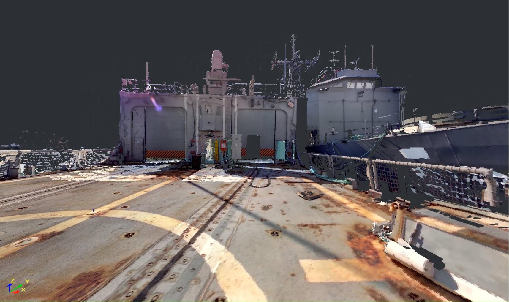 USS Roberts Flight Deck
