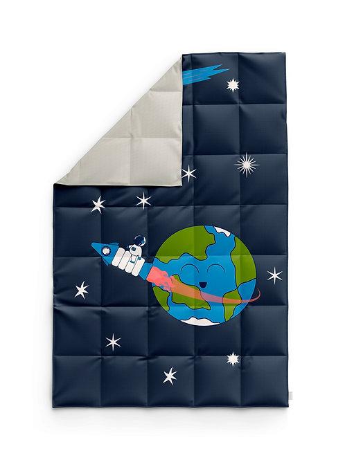 Детское одеяло для новорождённых – Космос-земля