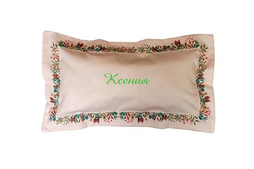 постельное белье с вышивкой инициалов