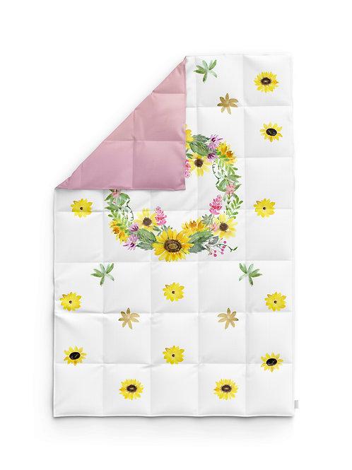 Детское одеяло для новорождённых – Подсолнухи-цветы