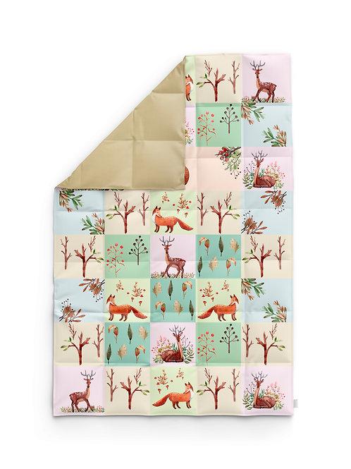 Детское одеяло для новорождённых – Олень и лиса