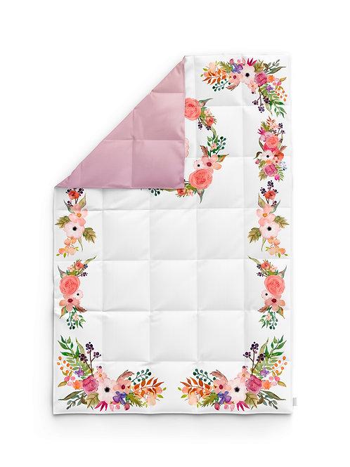 Детское одеяло для новорождённых – Цветы розовые