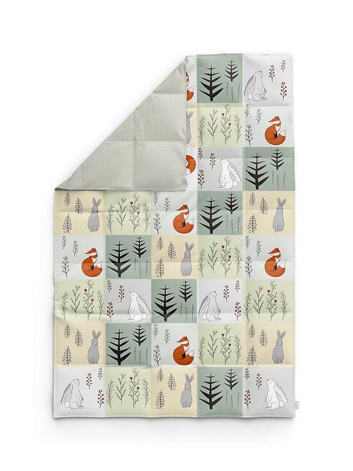 Детское одеяло для новорождённых – Заяц и лиса