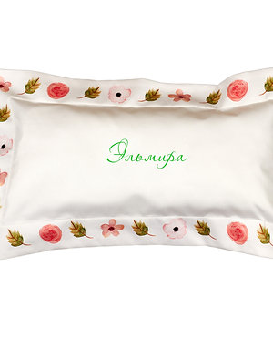 Подушка в детскую кроватку – Цветы розовые