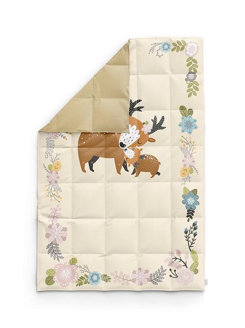 Детское одеяло для новорождённых – Олень и цветы