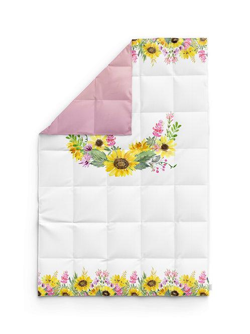 Детское одеяло для новорождённых – Подсолнухи-поляна