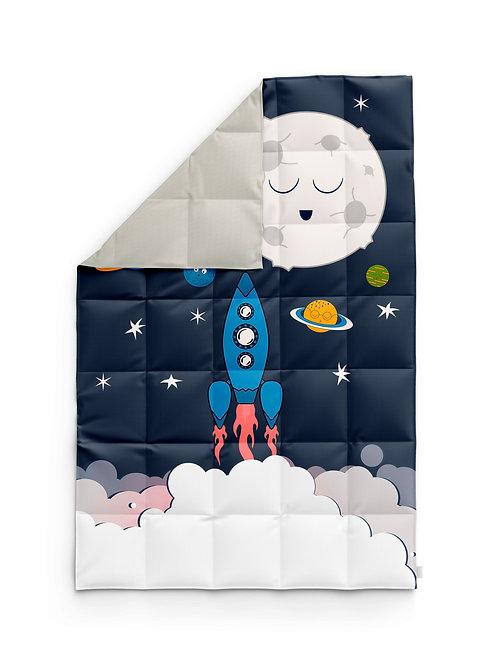 Детское одеяло для новорождённых – Космос-луна