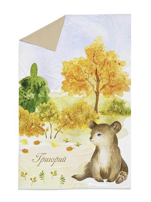 Детское покрывало – Медведь в лесу