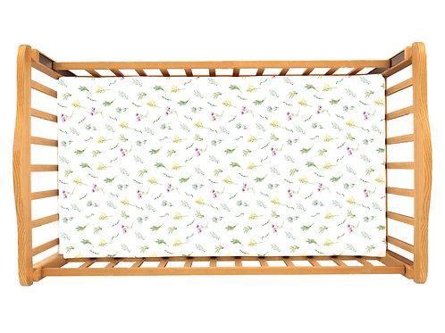 Детская простынь на резинке – Листья подсолнухов