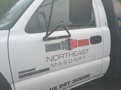 mason truck lettering