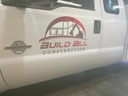 construction truck lettering