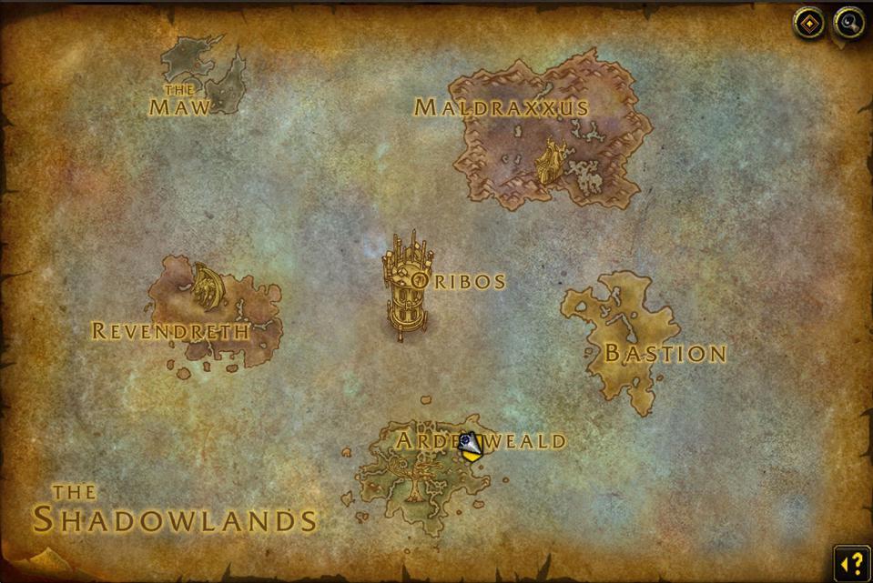 Shadowlands leveling
