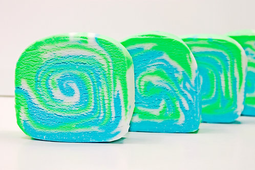 Green Aloe & Clover Bath Cake (10 pack)
