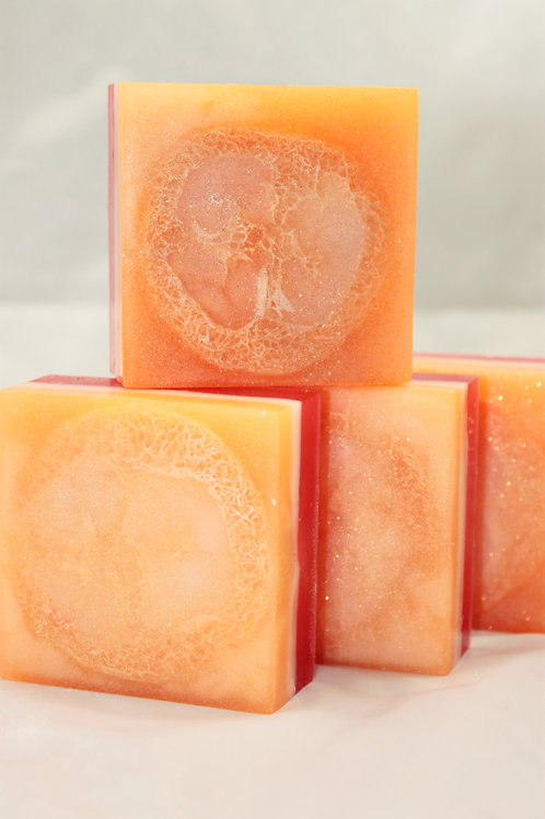 Mango Papaya Loofah Soap (6 Bars)