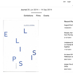 ellipsis journal (Issue A) at ICA London