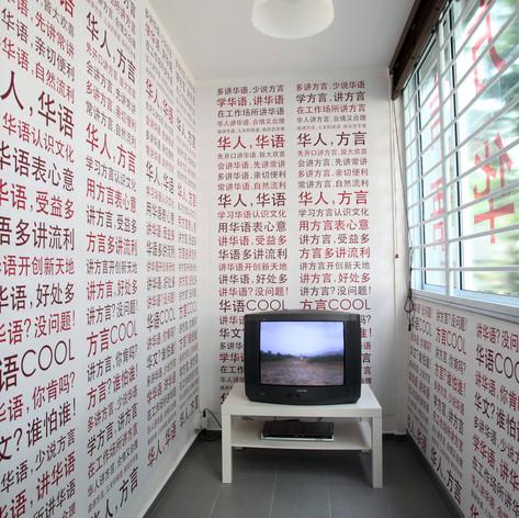 Green Zeng, Mother Tongue, video installation