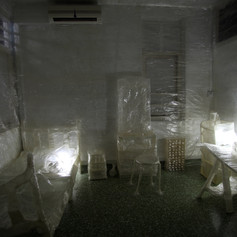 Jying Tan, Heimlich, cellophane, site-specific installation