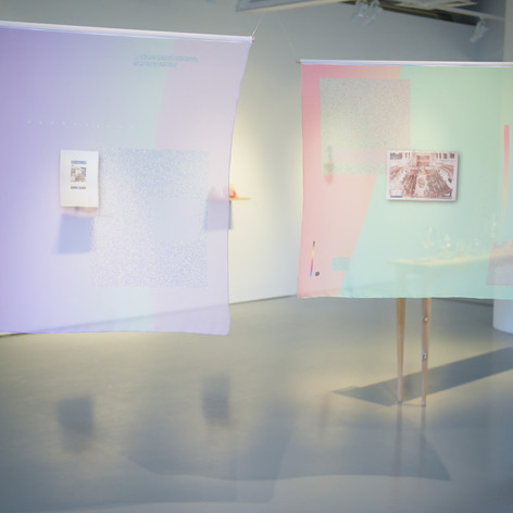 Godwin Koay, content flagged for surveillance, Installation view. The Art Incubator 6: Residency as method, Institute of Contemporary Arts Singapore, 2015.