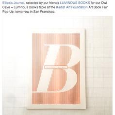 ellipsis journal (Issue B) at Kadist Art Book Fair Pop-Up (San Francisco, US)
