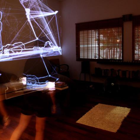 Race Krehel, Time Echo Amplifier, interactive light installation