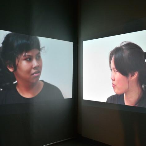 Ahdini Izzatika, S(h)ame?, video installation, 2018.
